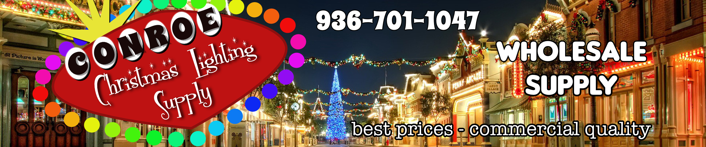 wholesale supplies conroe commercial christmas lighting supply
